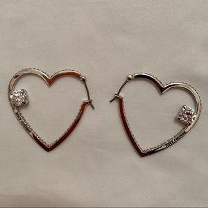 Juicy Couture Heart Hoop Studded Earrings